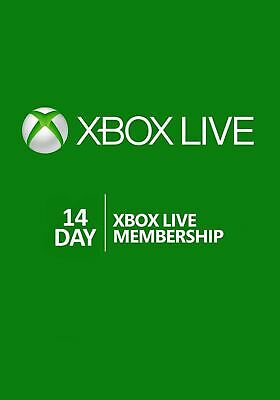 24/7 Instant Delivery Microsoft Xbox Live Gold 14 Day 2 Weeks Trial Key Code
