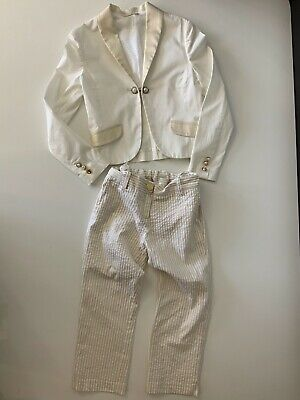 Miss Grant Ivory  Blazer Jacket And Trousers Age 7 Years Girls  Vgc