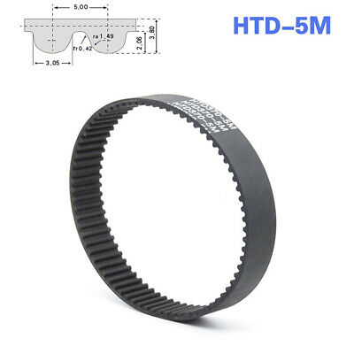 HTD5M 170~515 Pitch 5mm Close Loop Timing Synchronous Belt Width10/15/20/25/30mm
