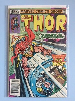 The Mighty Thor # 317 Marvel Comics 1982 FN Bronze Age