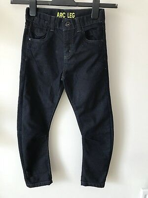 Boys Marks And Spencer Jeans Dark Blue Age 8-9 Arc Leg