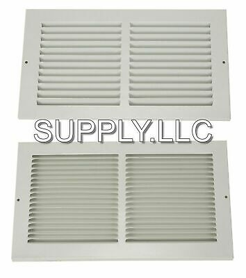 Air Return Vent Cover Grille 10 X 14 Duct Size Steel Wall Ceiling Sidewall White
