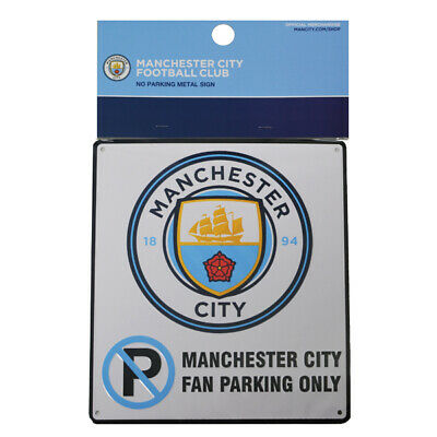 Manchester City No Parking Sign Enamel Metal Official Football Club Crest FC