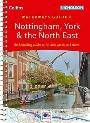 Nottingham  York & the North East by Collins Maps New Spiral bound Book