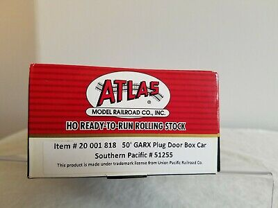 Atlas HO 50' GARX Plug Door Box Car Southern Pacific  #51255