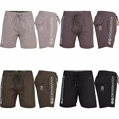 Mens Crosshatch Swimming Shorts Designer Trunks Beach Casual Drawcord Mesh Lined
