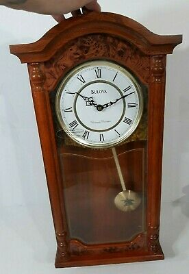 Bulova Westminster Chimes Strikes Whittington Wall Pendulum Clock Chime