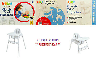 Classic 2 In 1 Highchair & Junior Chair - Bebe Style