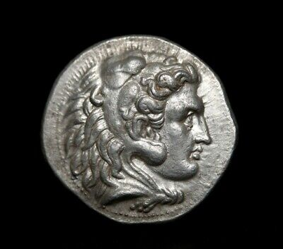 Alexander the Great. Masterpiece tetradrachm.Very rare Ancient Greek coin.
