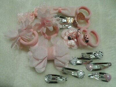 14 pcs girls/baby/ hair bow,hair clips,bows, slides,bendies,headbow crown ,gifts