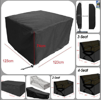 Cover Covers Waterproof Garden Patio Furniture Rattan Table Cube Seat 8 Size UK