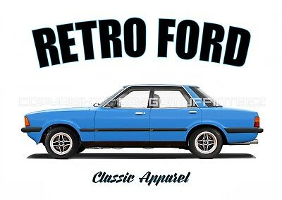 FORD CORTINA 80 MK5 SALOON t-shirt. RETRO FORD. CLASSIC CAR. MODIFIED.