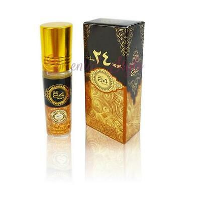 Oud 24 Hours Pure Perfume oil by Ard al Zaafaran 10ml Woody Musky Vanilla-Attar