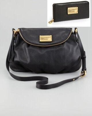 6d6697f8eb NWT Marc by Marc Jacobs Classic Q NATASHA Leather Crossbody Bag and Wallet  BLACK