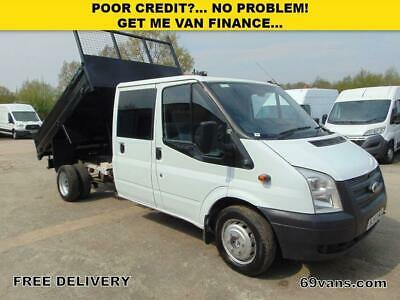 2014 Ford Transit Crew Cab Tipper, Drop Side, Pick Up, One Owner, Full History