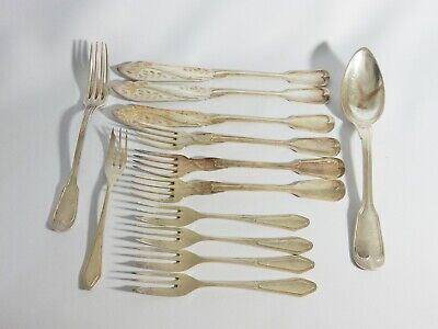 Antique Art Nouveau Bulk Lot Continental Silver Plate Cutlery Fork Spoon Knife