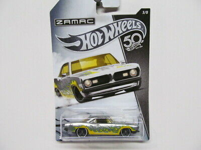 Hot Wheels  50th Anniv. ZAMAC Series - '68 Plymouth Barracuda Formula S