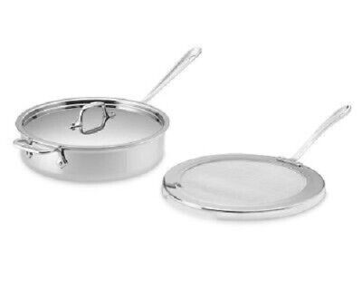 All-Clad 4-Qt Tri-Ply Stainless-Steel Chicken Fryer Pan Lid and Splatter Screen