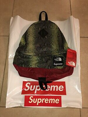 f53131a81 SUPREME SS18 NORTH Face Snakeskin Lightweight Day Pack Backpack ...