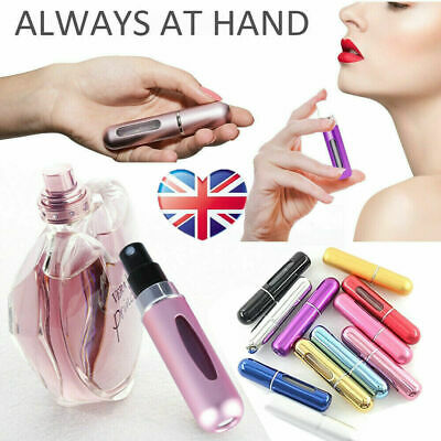 5ml Refillable Perfume Spray Pump Bottle Atomiser Portable Travel Aftershave
