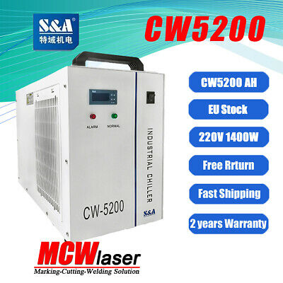 Genuine S&A CW 5200AH Water Chiller For Co2 Laser 80W 100W 130W Tube Engraver UK