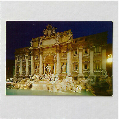 Roma Nocturnal of the Fountain of Trevi Postcard (P381)