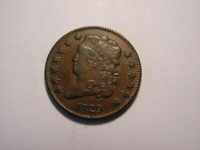 1829 Liberty Classic Head Half Cent, Looks to Be in XF - AU Condition