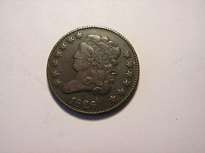 1826 Liberty Classic Head Half Cent, Looks to Be in XF - AU Condition