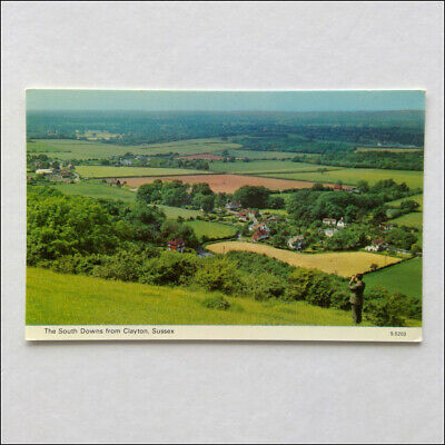 The South Downs from Clayton Sussex Postcard (P368)