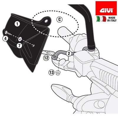 KTM Duke 125 2018 HAND GUARDS Givi HP7707 specific PROTECTORS Black Pair ABS new
