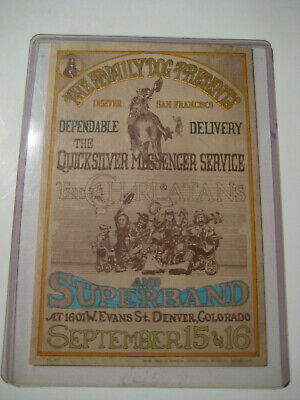 Rare Original Family Dog FD 02-1 Quicksilver Messenger Service, The Charlatans