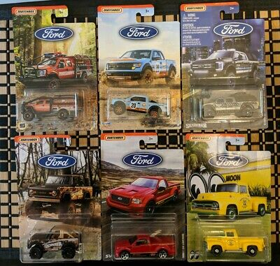 2019 Matchbox Ford Truck Series Moon/Gulf and More [Complete Set of 6]