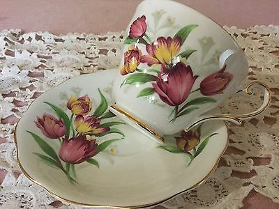Royal Standard Bone China Cup And Saucer England   Fantasy Pattern