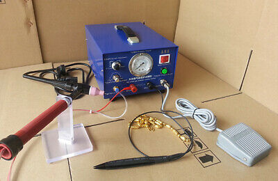100A Jewelry Spot Welder - Argon Protection Gold Silver Platinum Welding Machine