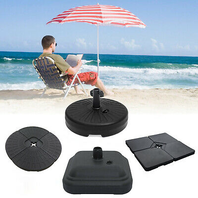 Garden Parasol Square Base Stand Umbrella Holder Sand Water Filled 15kg New