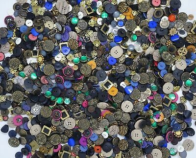 Mixed Lot of Vintage Fancy Buttons 15 oz ~400 Buttons 1950s 1960s #2