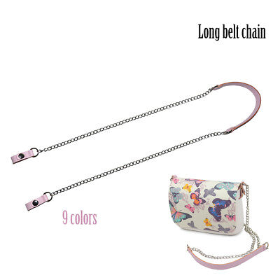 long Shoulder Chain with Faux Leather Strap Clip closure for OPocket Obag O bag