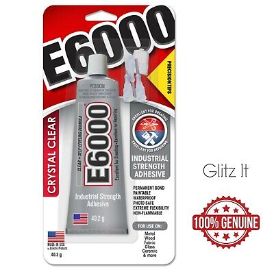 E6000 Glue with Precision Tips - 40.2g - Industrial Strength Permanent Adhesive
