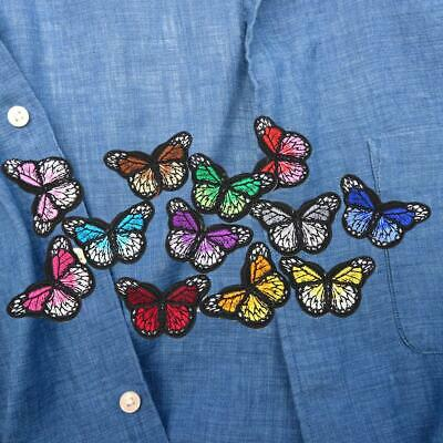Embroidered Sew Iron on Butterfly Patches Badge Fabric Bag Cloth Applique Craft
