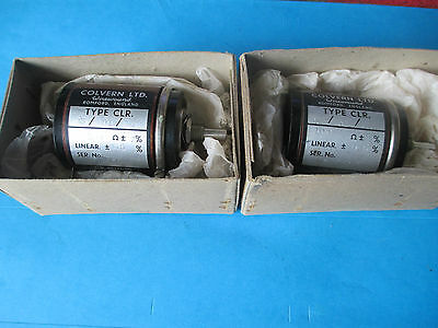 Colvern Potentiometer 100 Ohm Linear. N.o.s. 1 Piece. 1960.