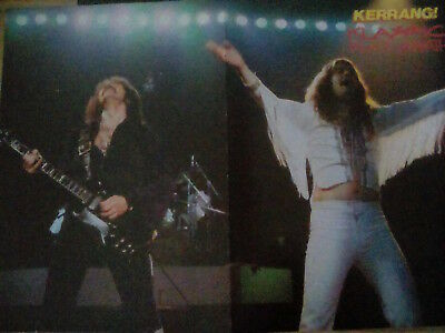Black Sabbath 70's or Skid Row Early 1990's Double Page Poster to Frame? Kerrang