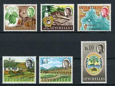 Seychelles 1962-68 High Values 1r to 10r SG207/12 MM