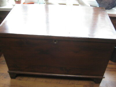 LARGE ANTIQUE WOODEN COFFER/ CHEST 36 inches  x 21 x 22 height