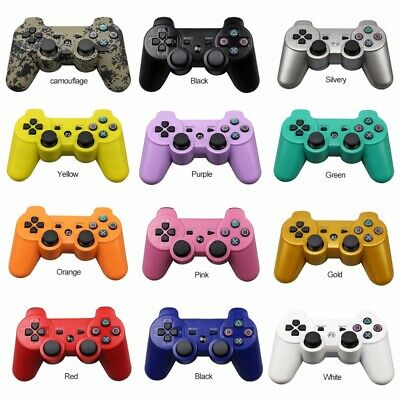 12 Colors Wireless Bluetooth Controller for Sony PS3 Plastation 3 + USB Cable AU
