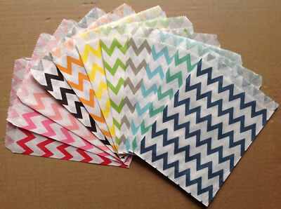 Chevron Striped Food Oil Paper Bag For Biscuit Snack Popcorn Fries Hamburger X25