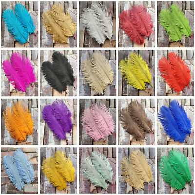 23 Colors Wholesale 10-100pcs Natural Ostrich Feather 6-8inch/15-20cm decoration