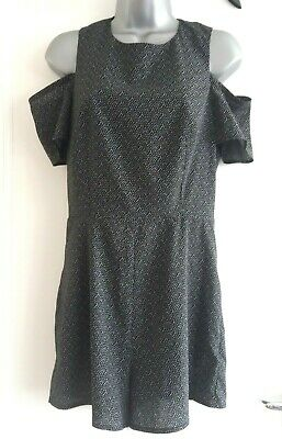 New Look Generation 915 girls black spotted cold sleeve jumpsuit playsuit age 14