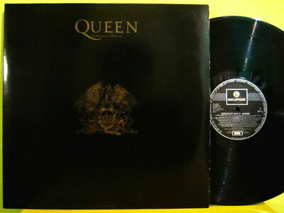 QUEEN Greatest Hits 2 II RARE BLACK SLEEVE GREEK ORIGINAL 1st PRESS 2x VINYL LP