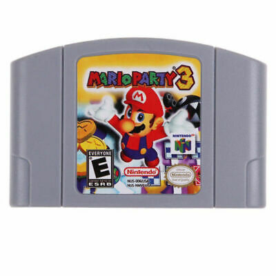 For Nintendo N64 Game Mario Party 3 Video Game Cartridge Card AU Version
