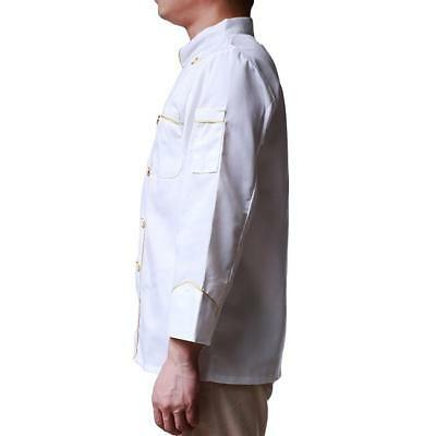 Chef Jacket Coat Cook Food Kitchen Catering Work Uniform Clothing IT